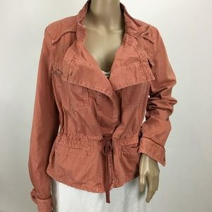 Hei Hei Anthropologie Coral Utility Field Jacket